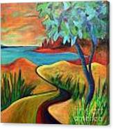 Crimson Shore Canvas Print