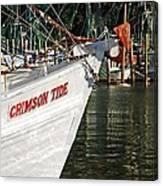 Crimson Tide Bow Canvas Print