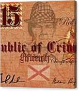 Crimson Tide Currency Canvas Print