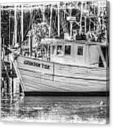 Crimson Tide Grungy Canvas Print