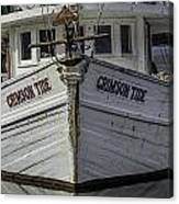 Crimson Tide Headon Canvas Print