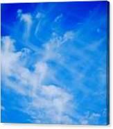 Cris Cross Clouds IIi Canvas Print