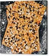 Crispbread With Thyme On Metal Sheet Canvas Print