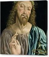 Cristo Salvator Mundi, C.1490-94 Canvas Print