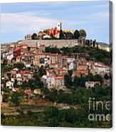Croatian City Motovun  Canvas Print