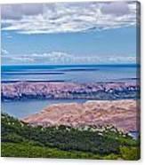Croatian Islands Aerial View From Velebit Canvas Print