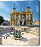 Croatian Nationa Theater In Zagreb Canvas Print
