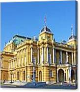 Croatian National Theater In Zagreb Canvas Print