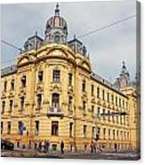Croatian Railways Administration Building In Zagreb  Canvas Print
