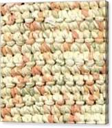 Crochet Rag Rug In Pastel Colours Canvas Print
