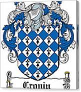 Cronin Coat Of Arms Irish Canvas Print