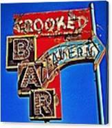 Crooked Bar And Tavern Canvas Print