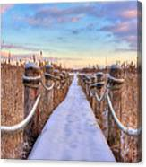 Crooked Lake Boardwalk Canvas Print