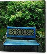 Crooked Little Bench Canvas Print
