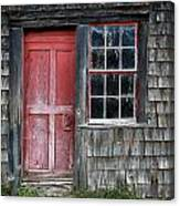 Crooked Red Door Canvas Print