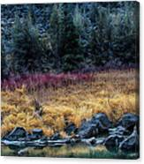 Crooked River At Smith Rock Canvas Print