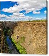 Crooked River Canyon And Bridge Canvas Print