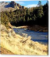 Crooked River December Morning Canvas Print