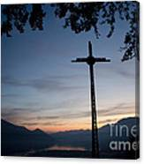 Cross On The Mountain Canvas Print