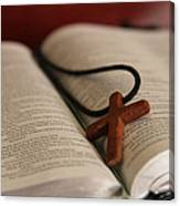 Cross And Bible Canvas Print