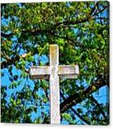 Cross At The Monastery Of The Holy Spirit Canvas Print