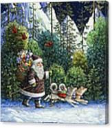 Cross-country Santa Canvas Print