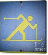 Cross Country Skiing Signboard Canvas Print