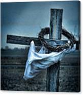 Cross In A Field Canvas Print