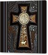 Cross In Leather Canvas Print