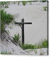 Cross In The Dunes Canvas Print