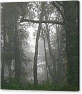 Cross In The Woods Canvas Print