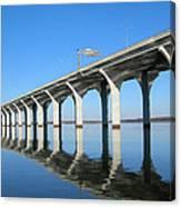 Cross Lake Bridge 1 Canvas Print