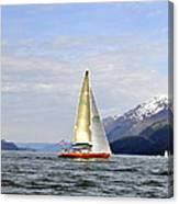 Cross Sound Sailboat Canvas Print