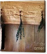 Crossbeam With Herbs Drying Canvas Print