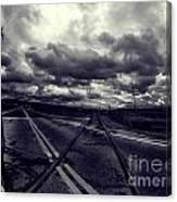 Crossed Tracks Canvas Print