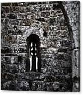 Crosses And Stone Walls At Clonmacnoise Canvas Print