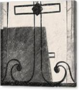 Crosses Voided Wrought Iron _ Nola Canvas Print