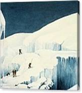 Crossing A Ravine, From A Narrative Canvas Print