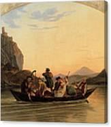 Crossing At Schreckenstein Canvas Print