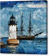 Crossing Into The Harbor Canvas Print
