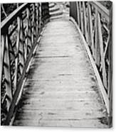 Crossing Over - Black And White Canvas Print
