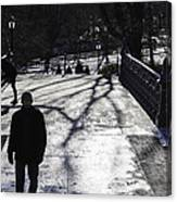 Crossing Over - Central Park - Nyc Canvas Print
