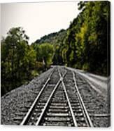 Crossing Tracks Canvas Print