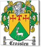 Crossley Coat Of Arms Irish Canvas Print