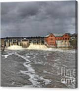 Croton Dam Flood Canvas Print