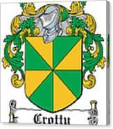 Crotty Coat Of Arms Irish Canvas Print