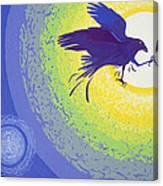 Crow, 1999 Gouache On Paper Canvas Print
