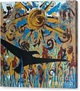 Crow Carrying Sun Medicine Canvas Print