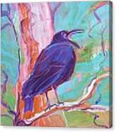 Crow In The Tree 3 Canvas Print