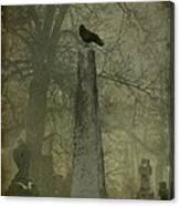 Crow On Spire Canvas Print